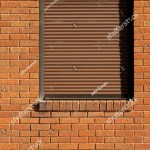 Industrial Building Exterior Window Brown Security Stock