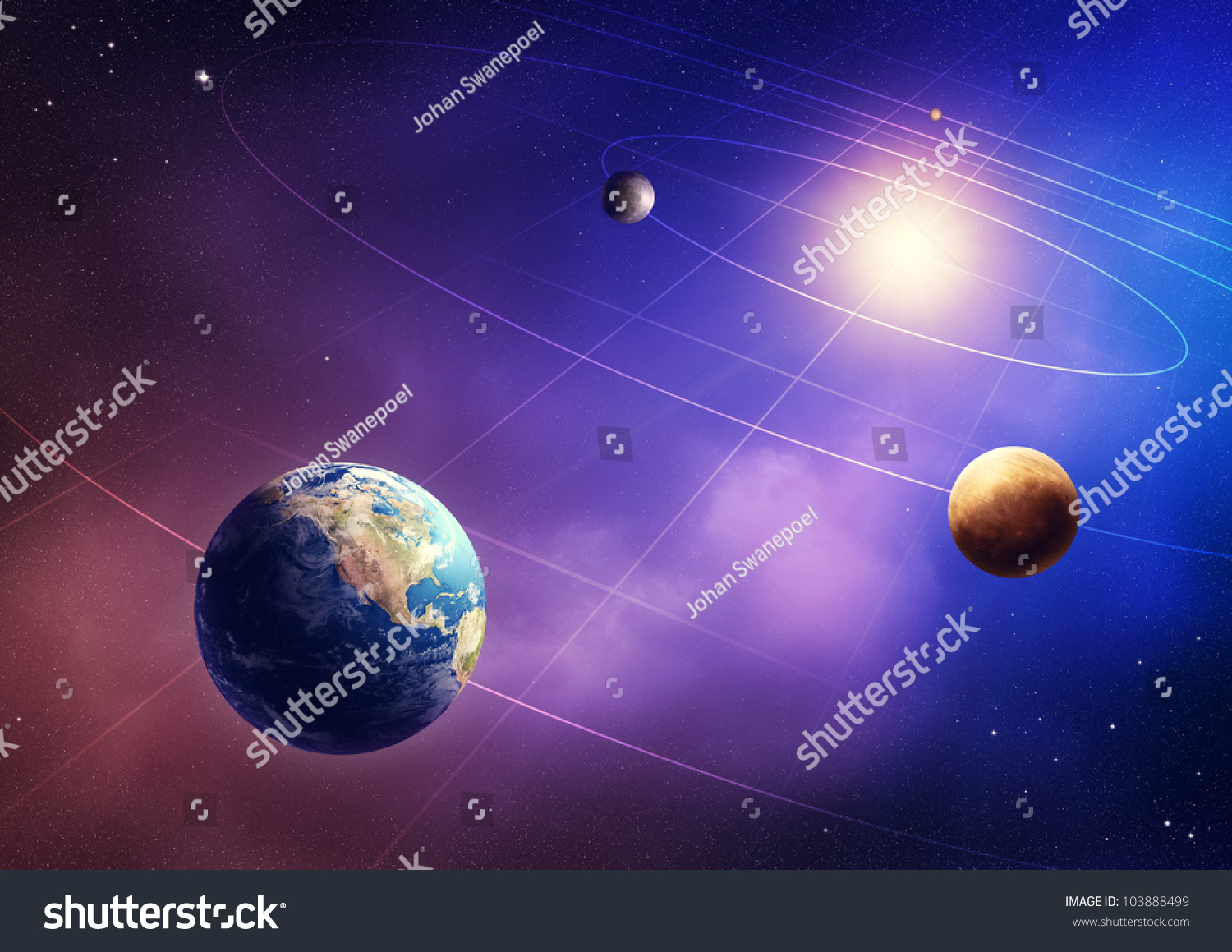 Inner Four Solar System Planets Elements Of This Image