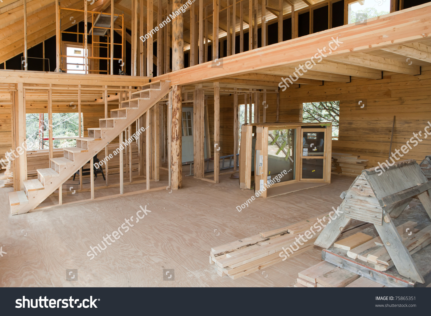 Interior View Construction New Residential Building Stock
