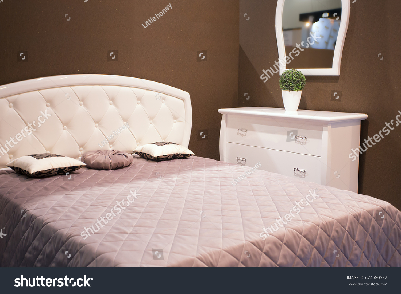 https www shutterstock com image photo intimate dark bedroom electric light brown 624580532