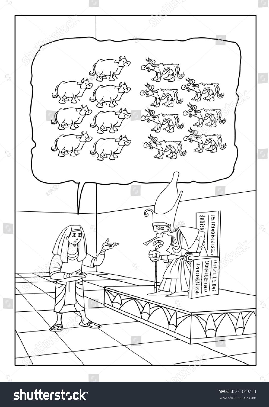 Joseph Interprets Pharaohs Dreams About Seven Stock