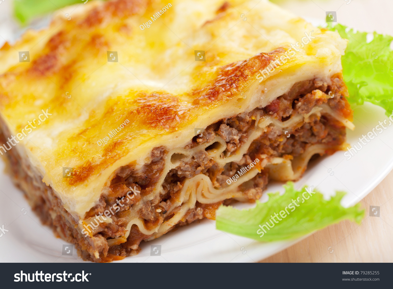 Lasagna Bolognese Stock Photo 79285255 : Shutterstock