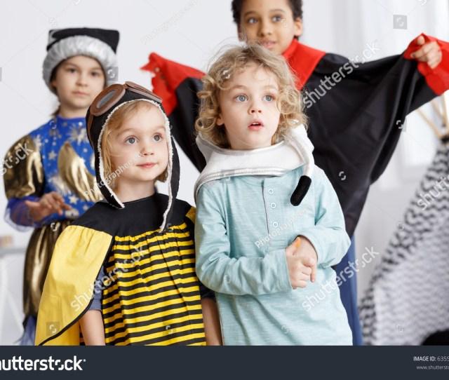 Little Girl As A Bee And Boy Ass An Astronaut
