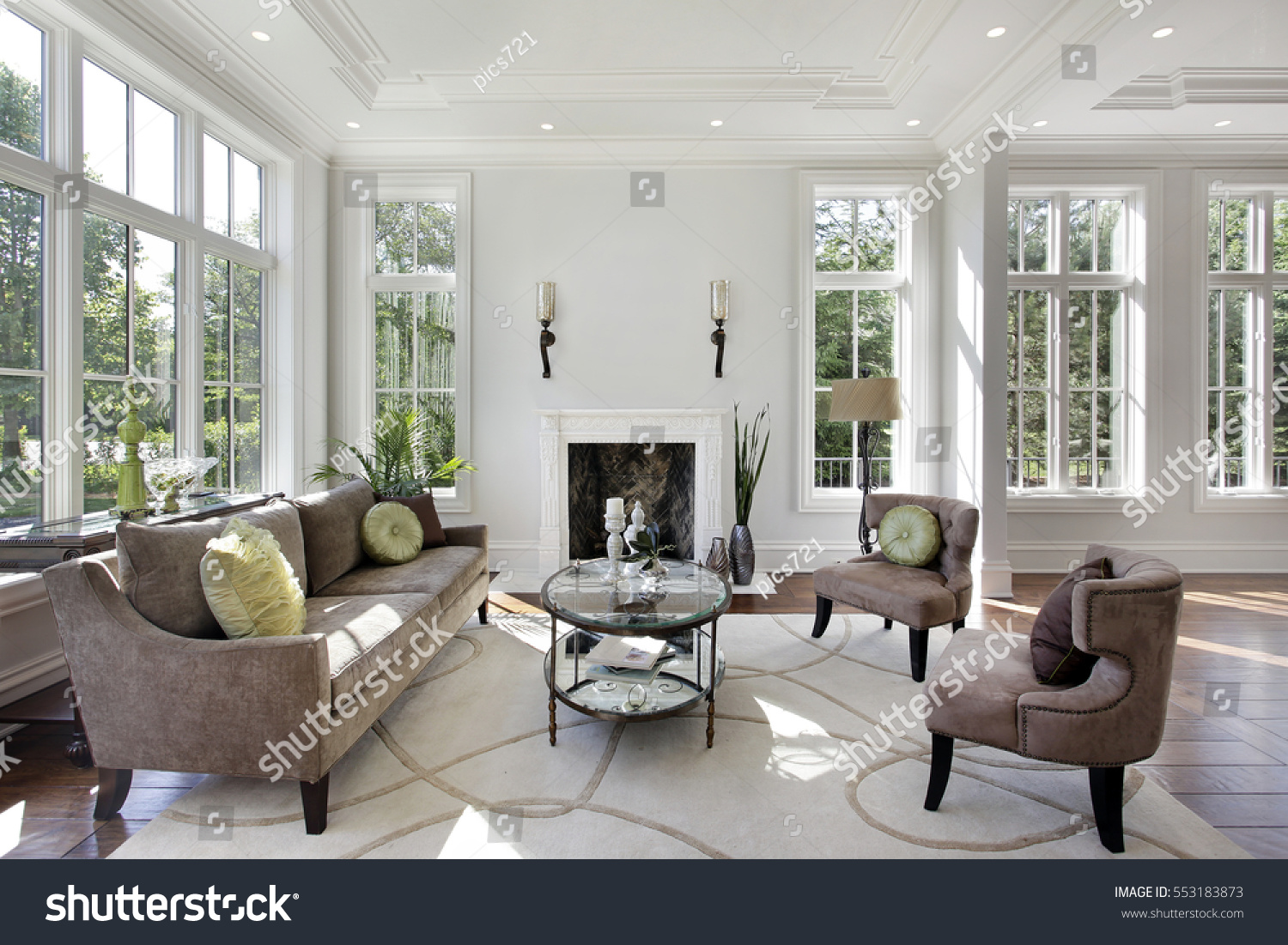 Living Room Luxury Home Fireplace Stock Photo 553183873 Shutterstock