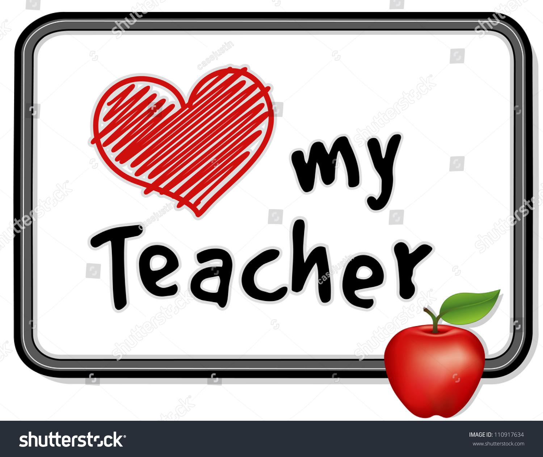 Love My Teacher Big Red Heart Stock Illustration 110917634 ... (1500 x 1260 Pixel)