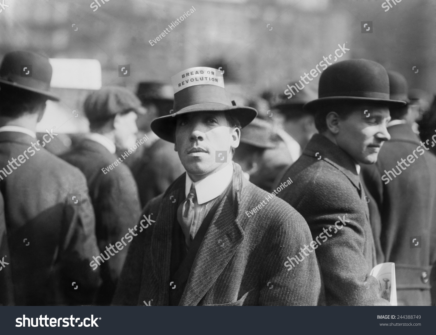 Man Wearing A Industrial Workers Of The World Hat Card