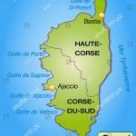 Map Corsica Borders Green Stock Illustration 172156619