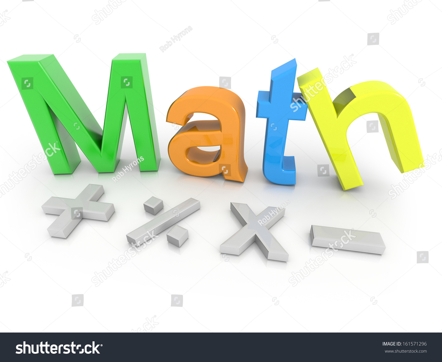 Math Text Math Symbols Isolated On Stock Illustration