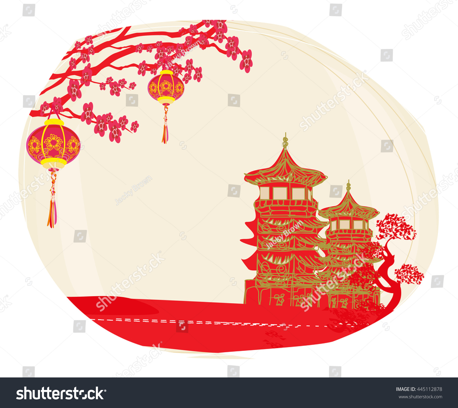 Mid Autumn Festival For Chinese New Year Stock Photo
