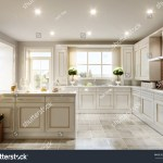 Modern English Classic Style Kitchen Interior Stock Illustration 611741699