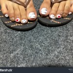Black Red And White Marble Nails Nail And Manicure Trends