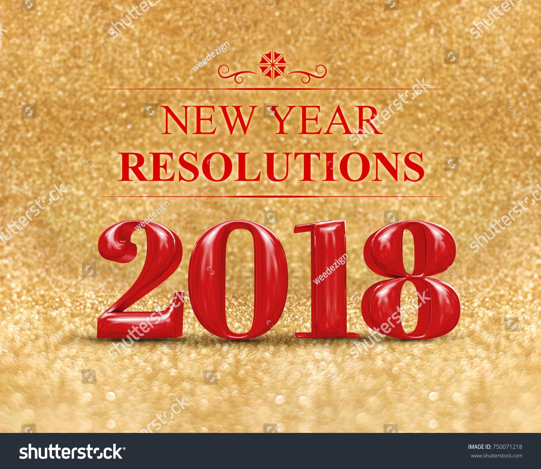 New Year Resolution 3d Rendering Stock Illustration
