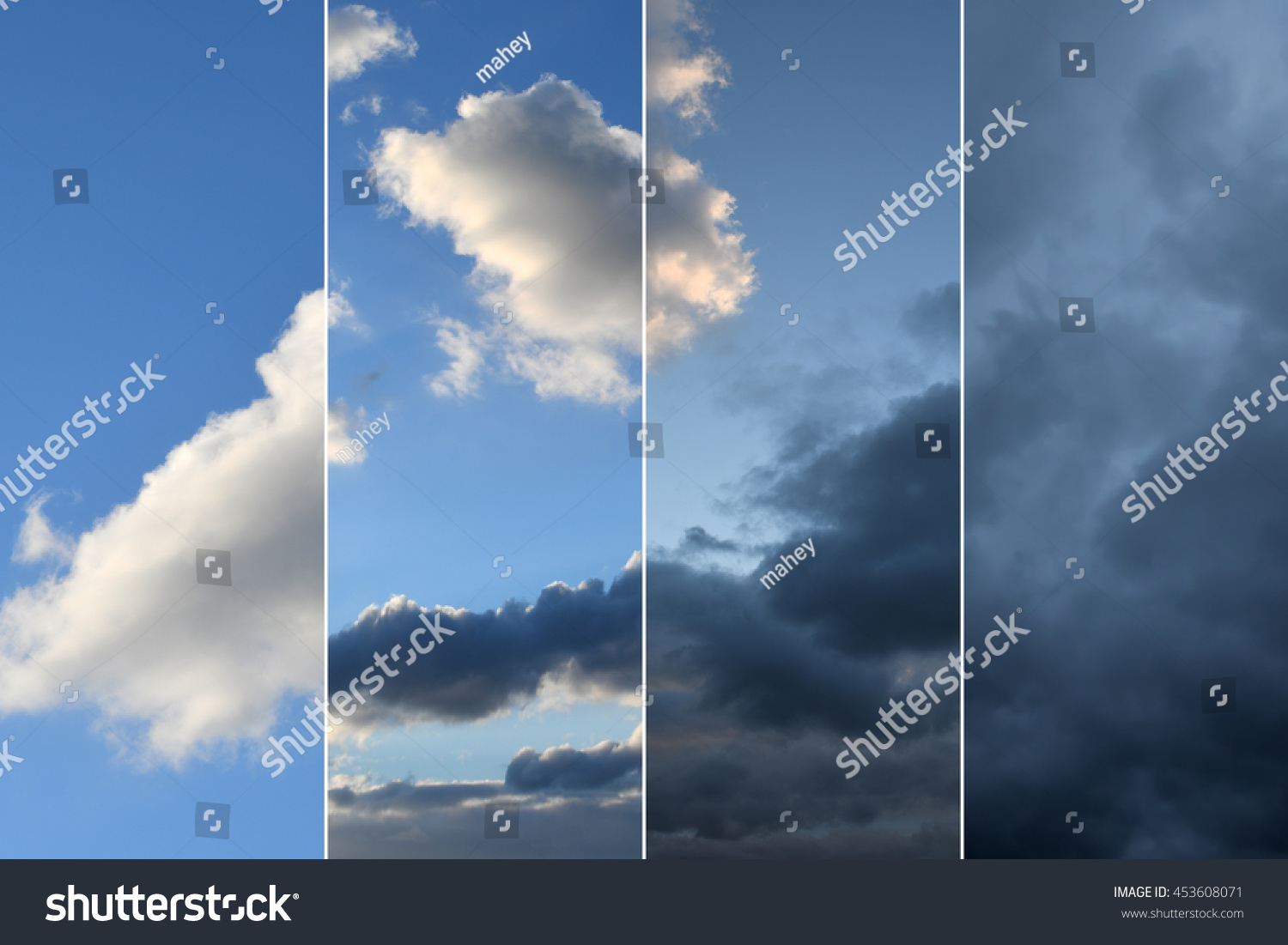 Observation Weather Change Four Views On Stock Photo