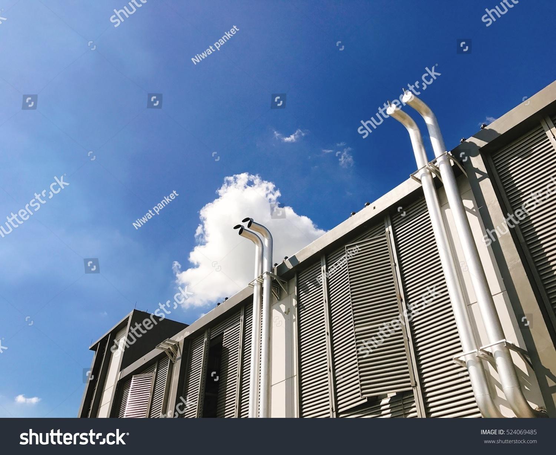 https www shutterstock com image photo out door exhaust pipe generator 524069485