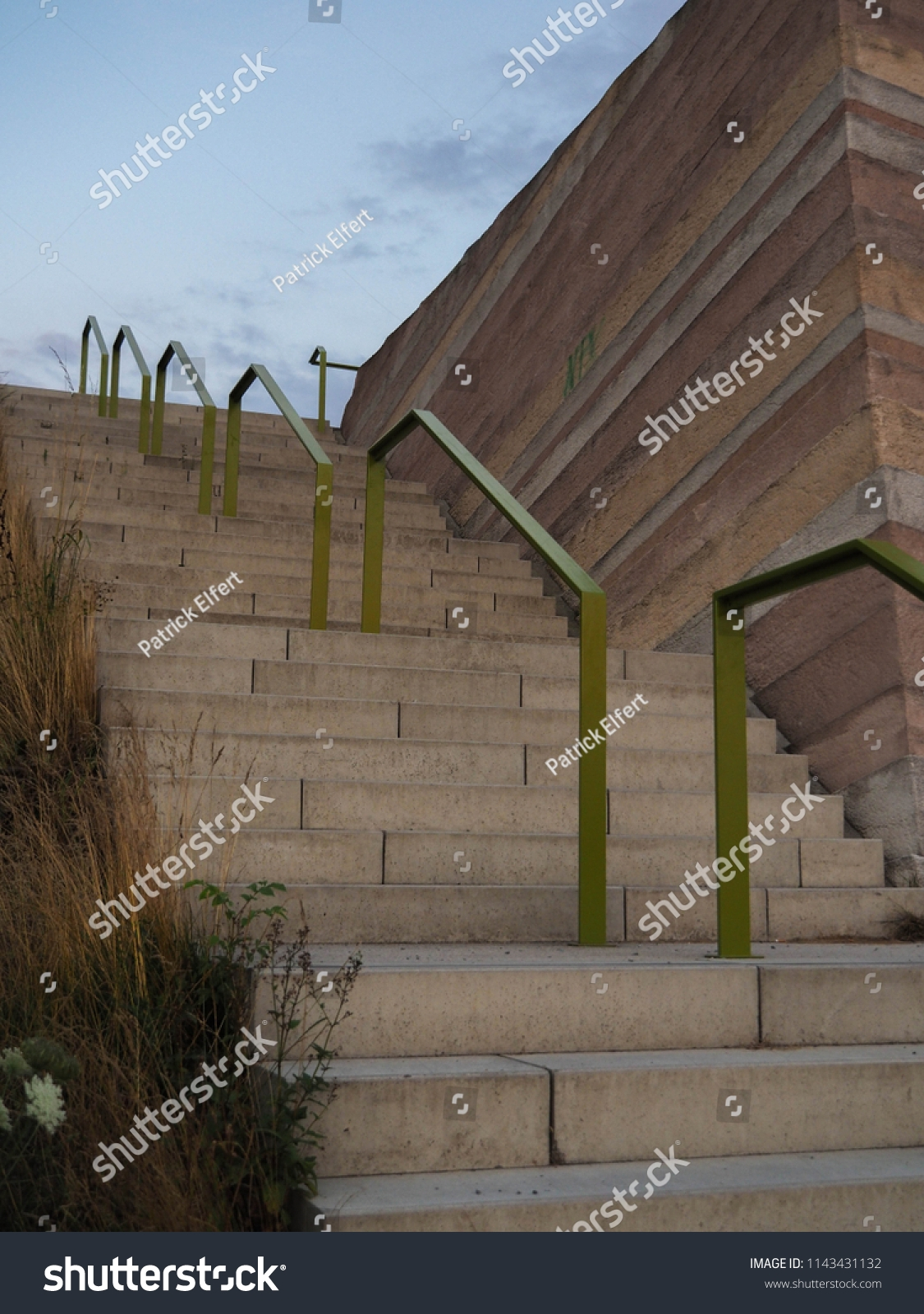 Outdoor Stairs Rustic Railing Buildings Landmarks Stock Image | Rustic Handrails For Stairs | Modern | Country Style | Antique Wooden Stair | Basement | Interior