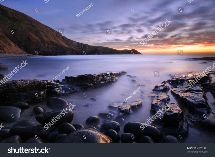 Pebble Beach On Wild Cost South Stock Photo  Royalty Free  43602421     pebble beach on the wild cost south Africa