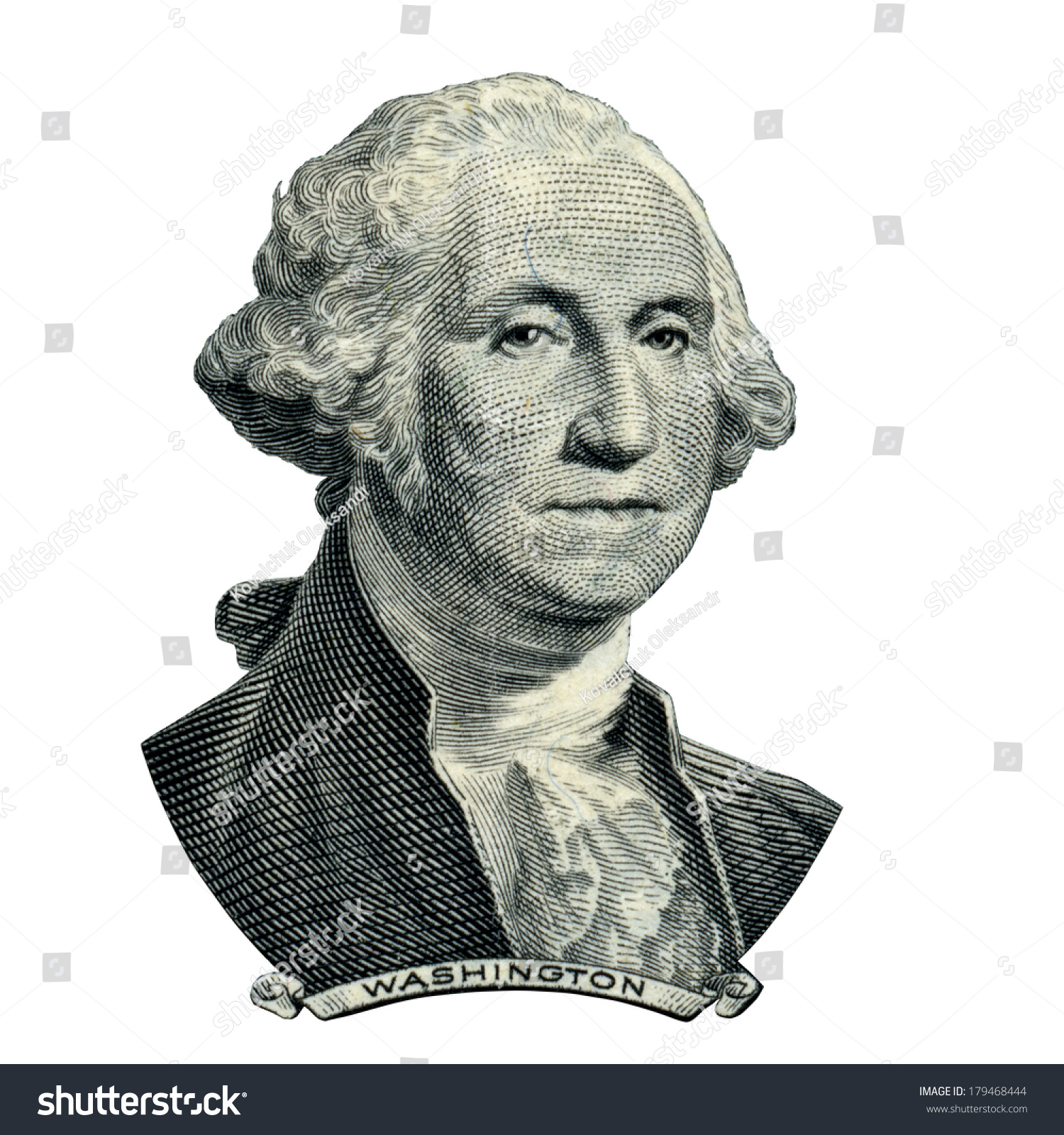Portrait Of First Usa President George Washington As He