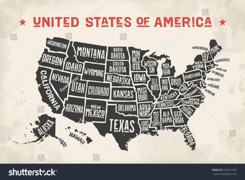 Printable Map Of The United States With State Names  Printable Hair     poster map of united states of america with state names black and white  print map with printable map of the united states with state names