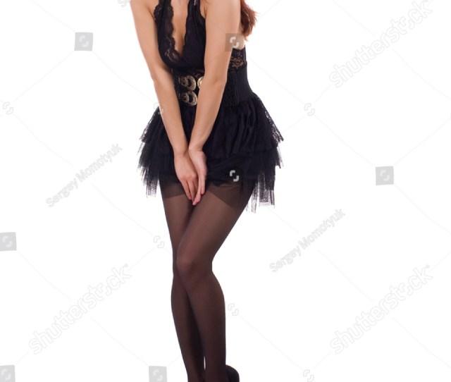 Pretty Sexy Girl In A Short Black Skirt