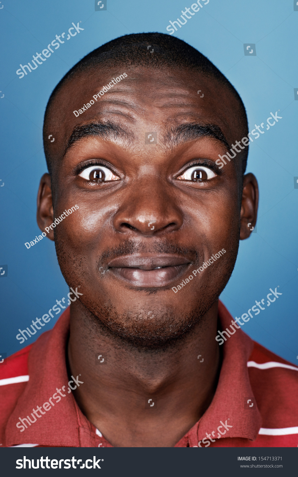 Real African Man Silly Funny Face Stock Photo 154713371