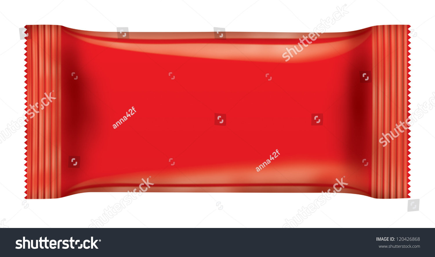 Red Chocolate Bar Package Isolated On Stock Illustration 120426868 Shutterstock