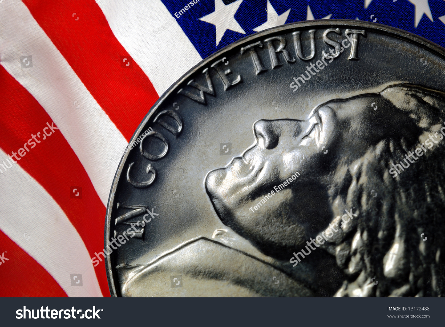 Image result for in god we trust american flag