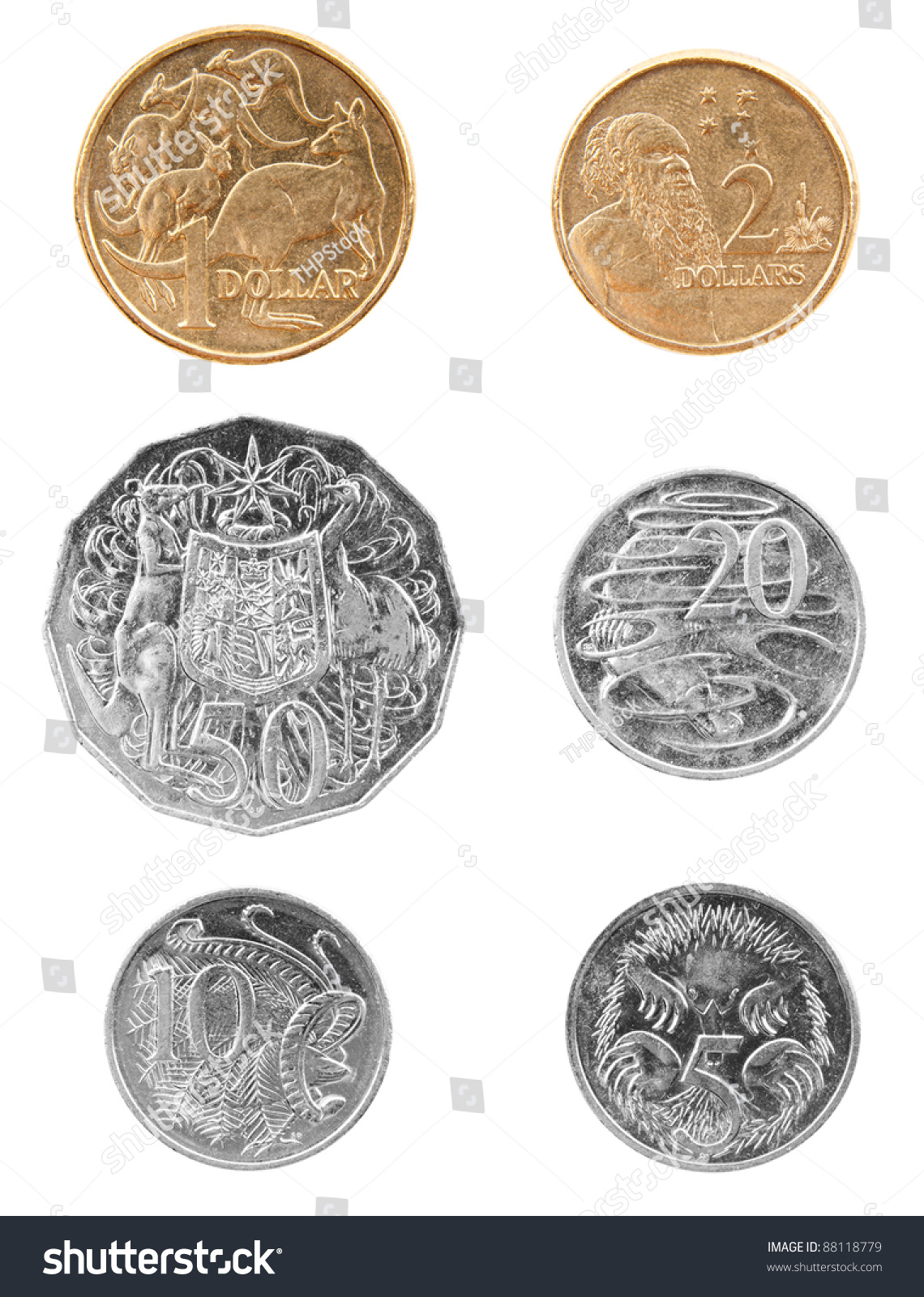 Set Australian Coin Currency Money Including Stock Photo