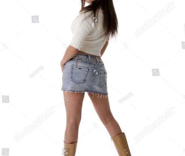 Sexy Spanish Woman Mini Skirt Boots Stock Photo Edit Now