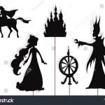 Shadow Puppets Sleeping Beauty Prince Evil Stock Illustration 1494956303