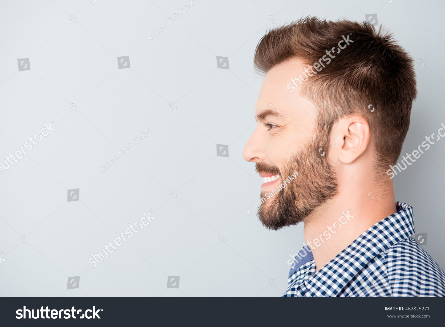 Face Male Side Smile View