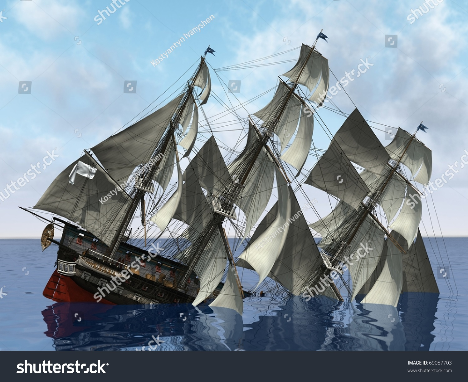 Sinking Ship In The Sea Stock Photo Shutterstock