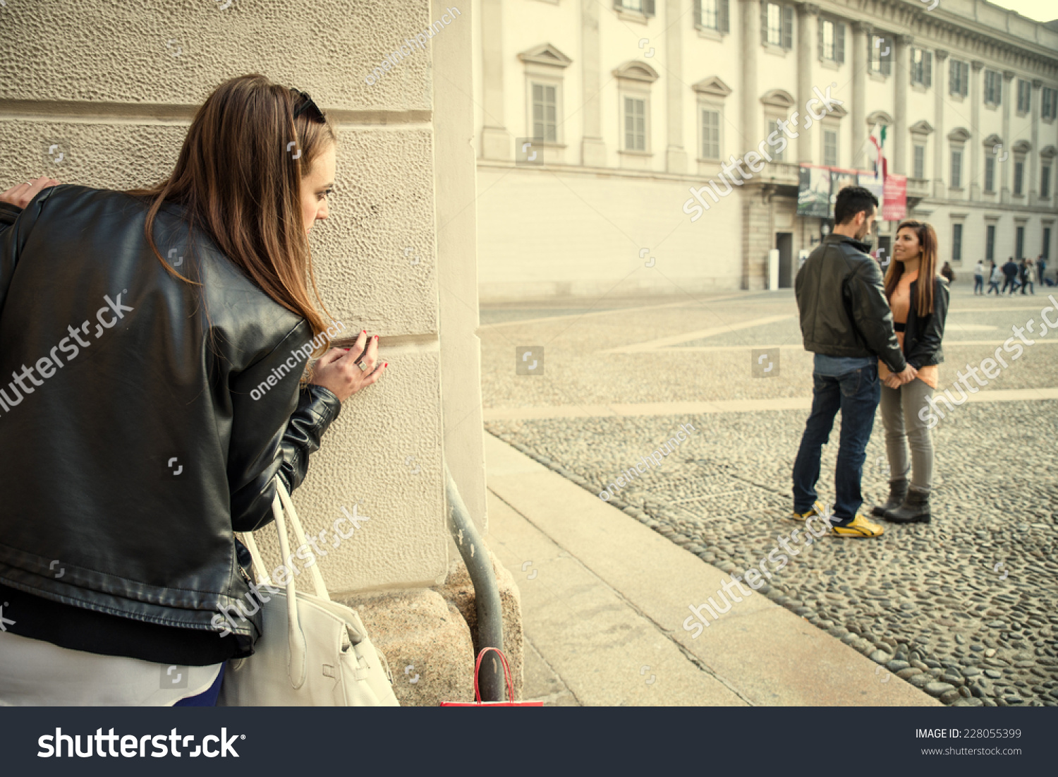 Image result for woman stalking her ex