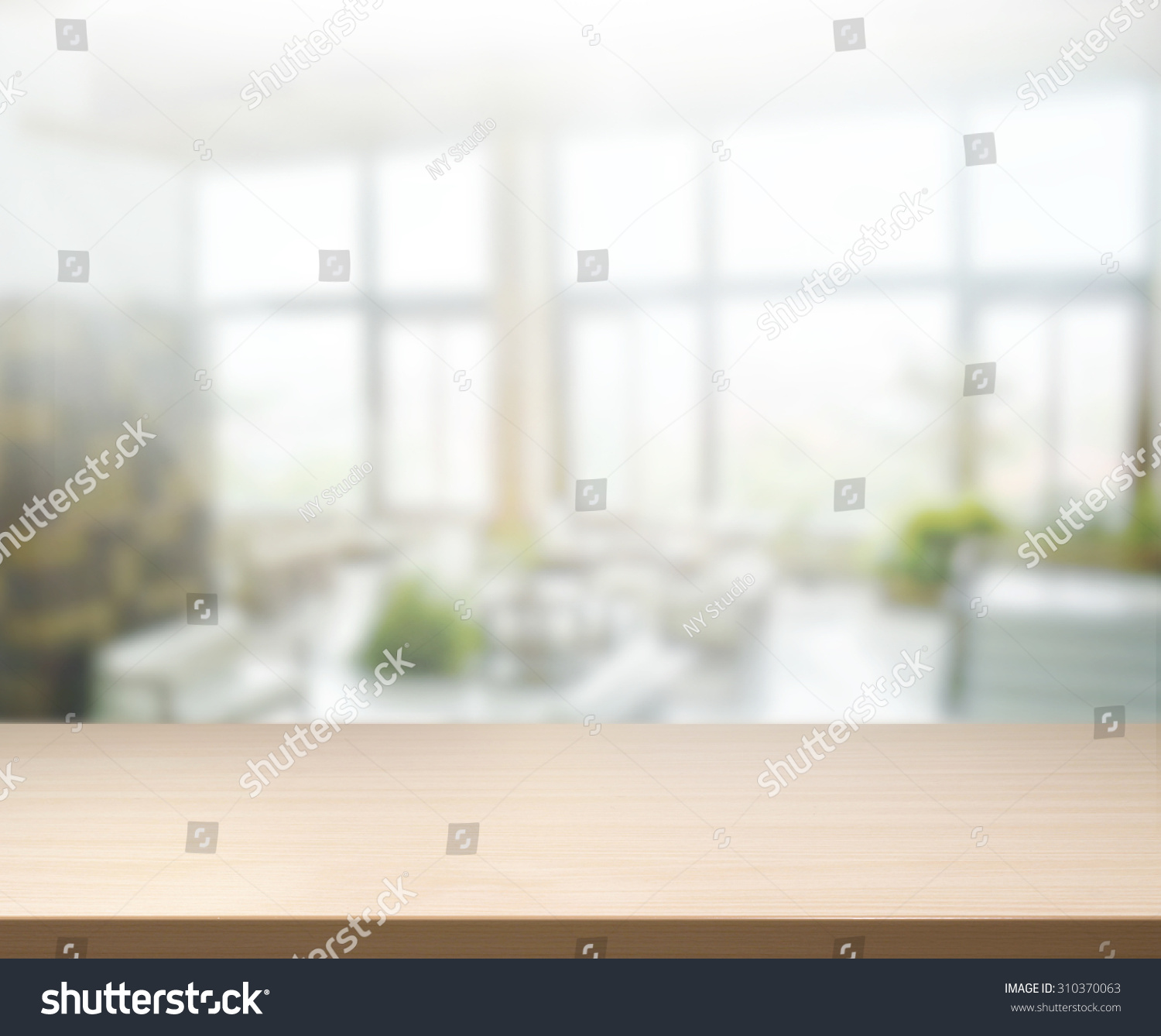 Table Top Blur Office Background Stock Photo 310370063