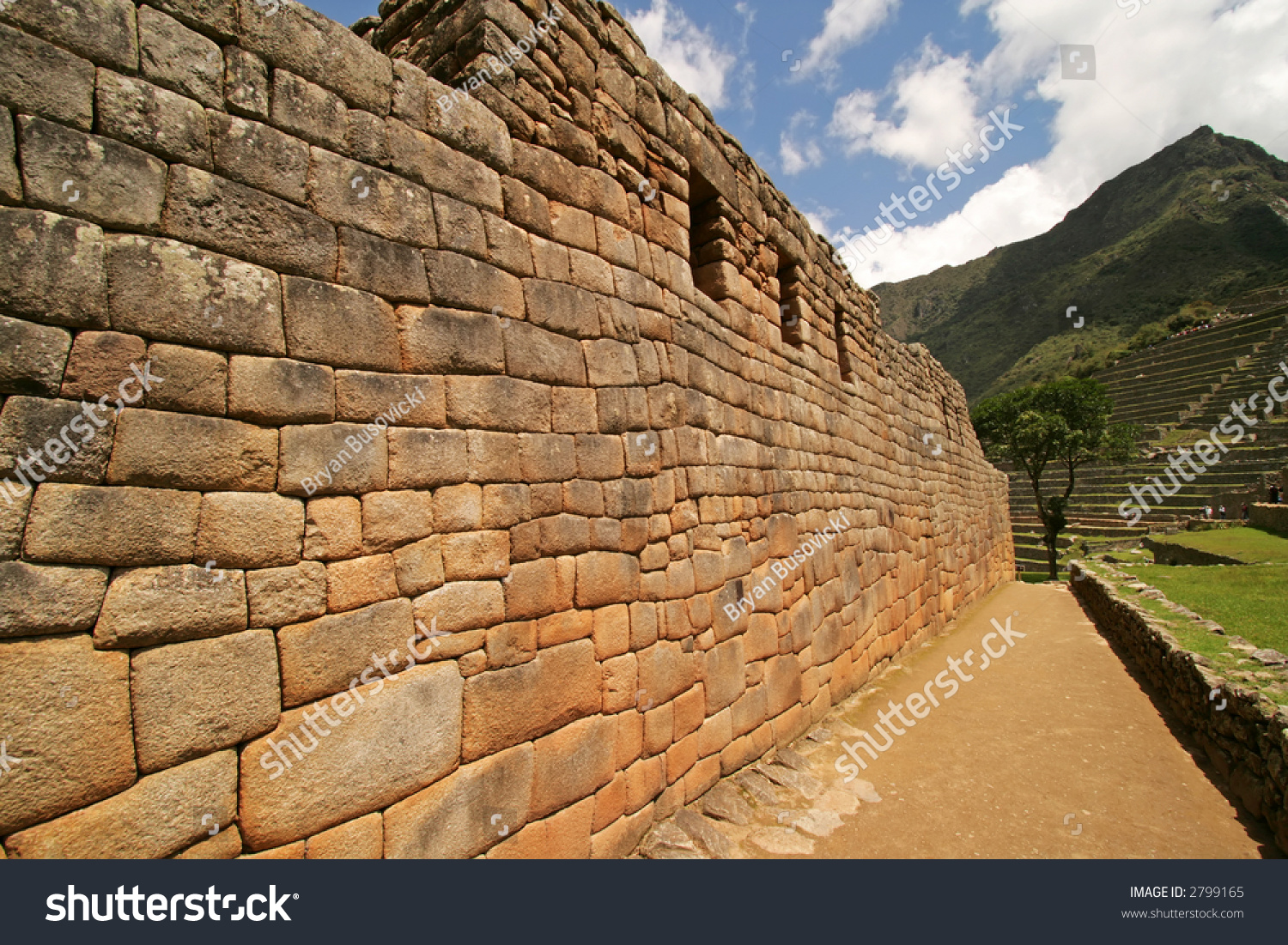 The Artisan S Wall At The Incan Ruins Of Machu Picchu In