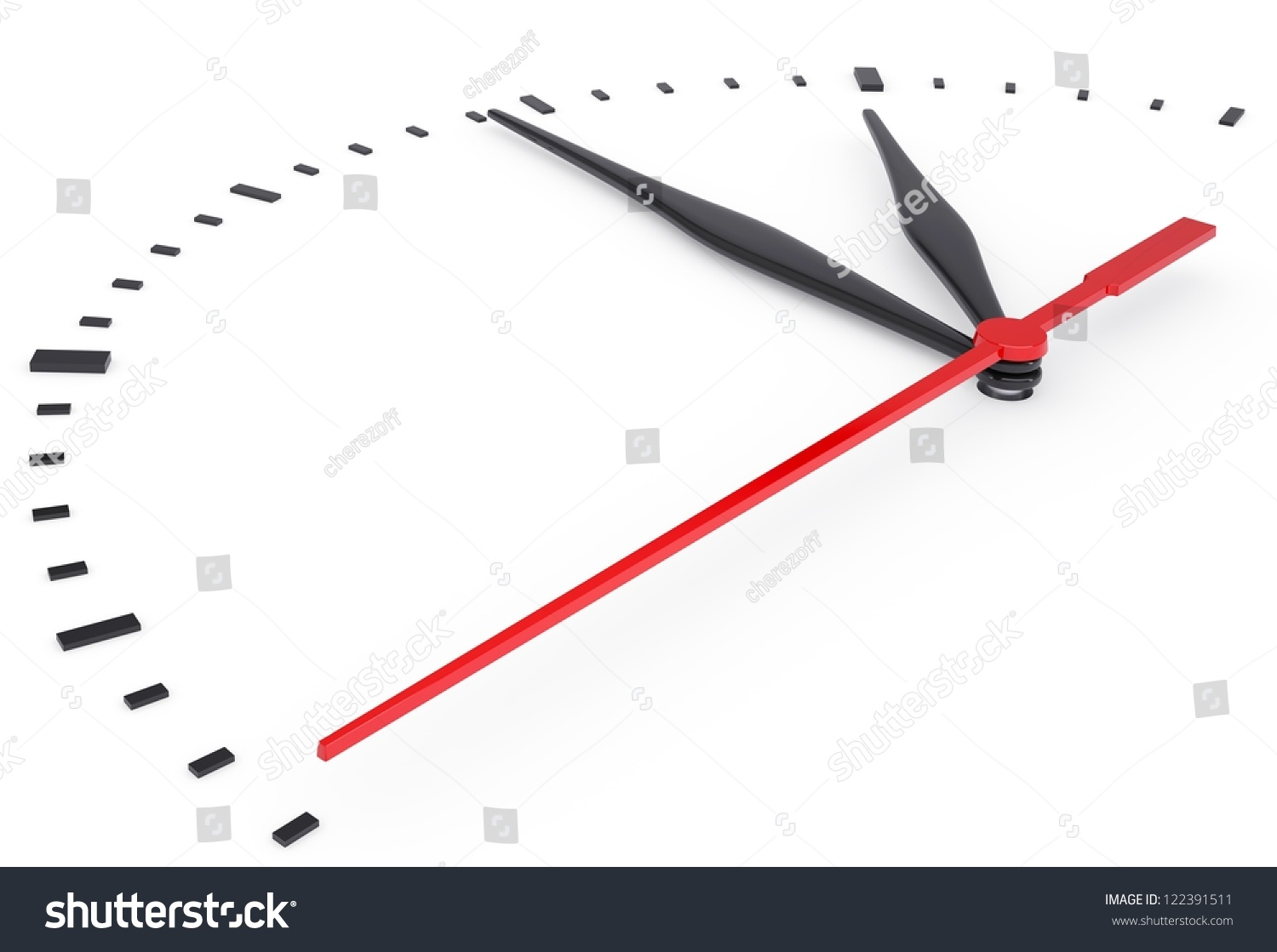 The Clock And Timestamp Without Numbers Isolated Render