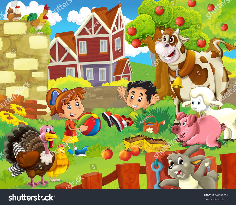 The Farm Illustration For Kids