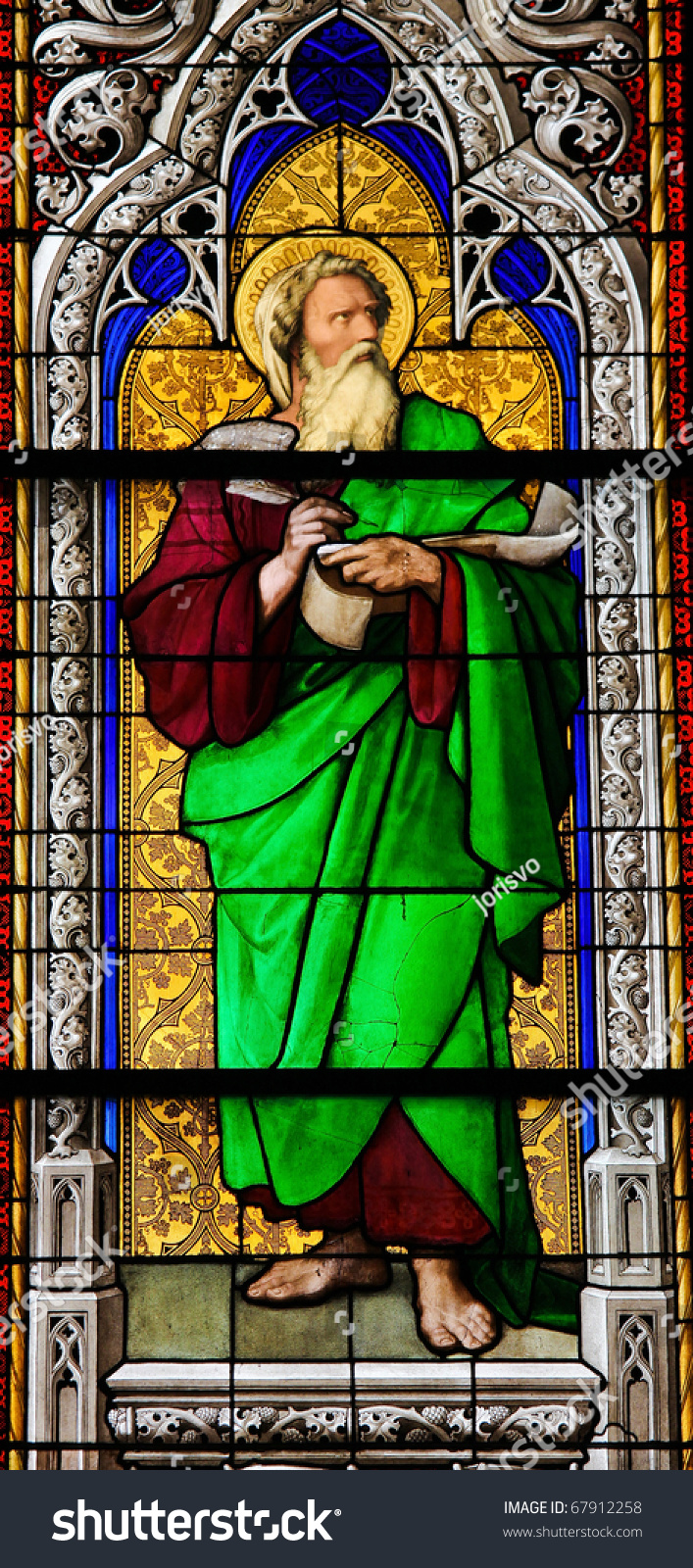 Prophet Ezekiel Stained Glass Church Window Stock Photo 67912258 Shutterstock
