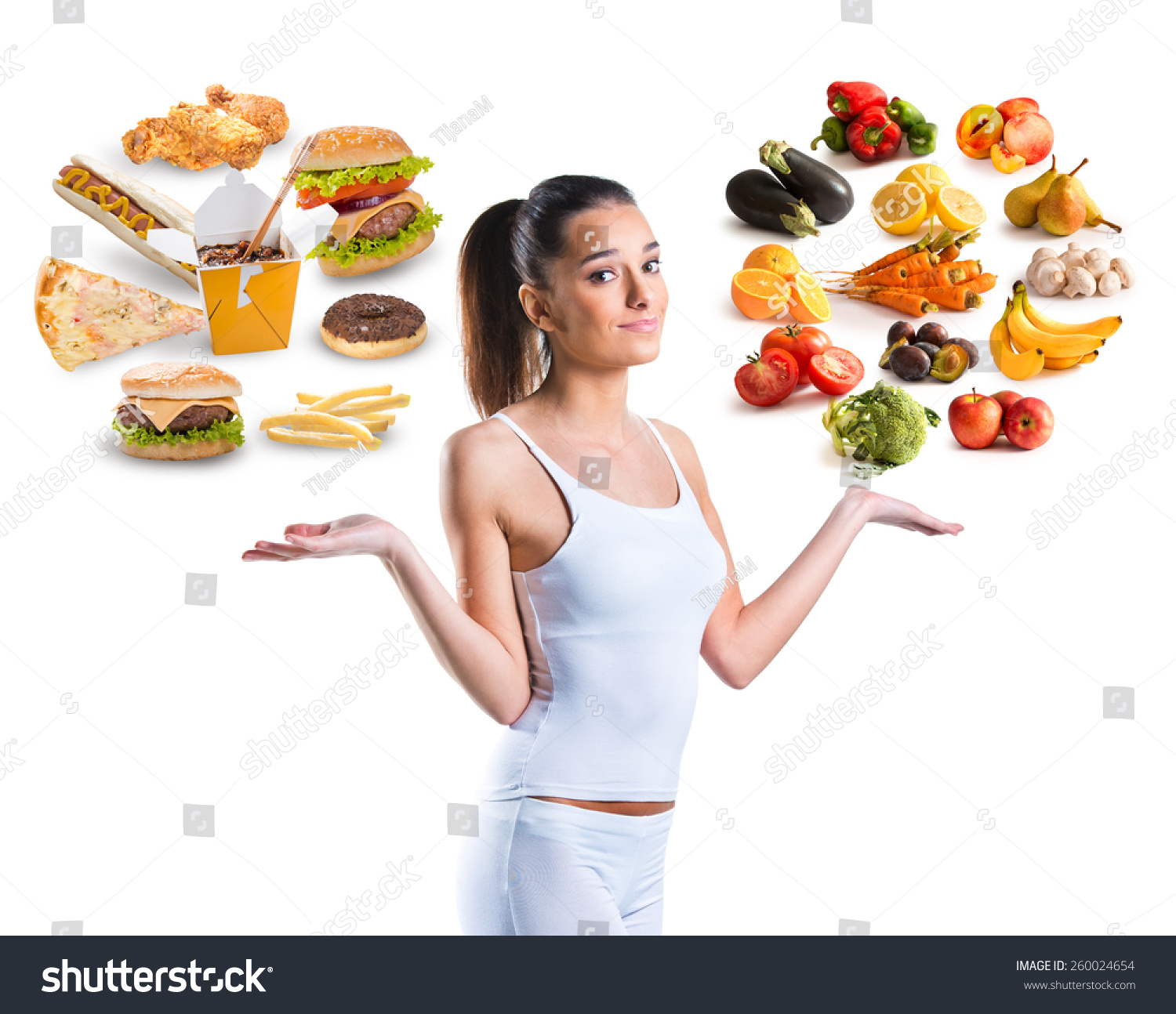 Unhealthy Vs Healthy Food Stock Photo Shutterstock