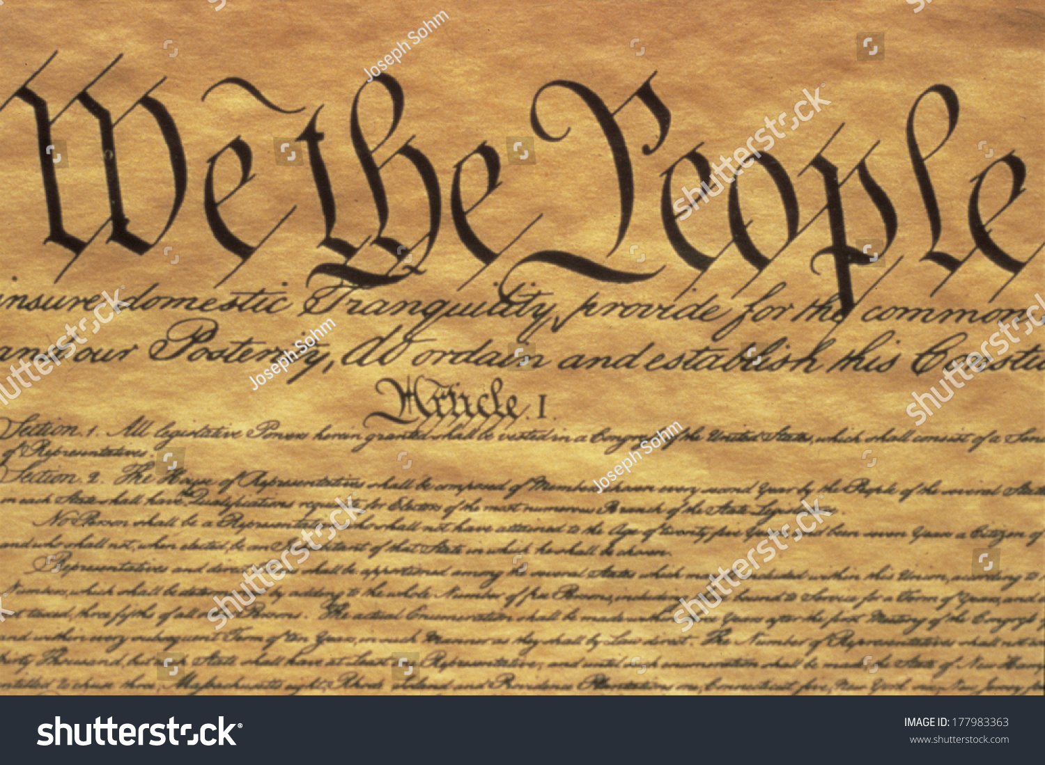 United States Constitution With Its Preamble We The