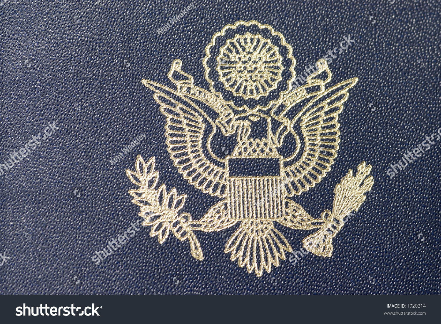 United States Of America Passport Stock Photo