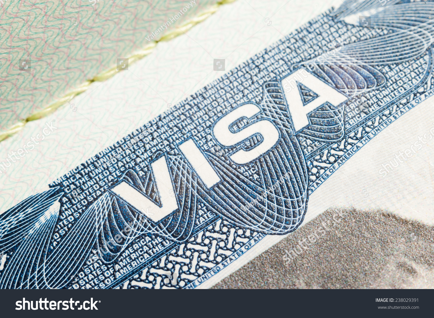 United States America Visa Travel Passport Stock Photo