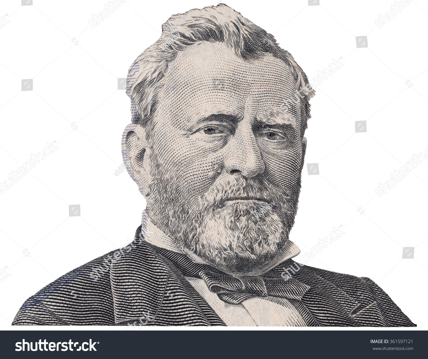 Us President Ulysses Grant Face On Stock Photo
