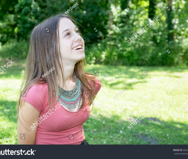 Very Lovely And Cute Young Teenage Girl Smiling Outdoor Happy