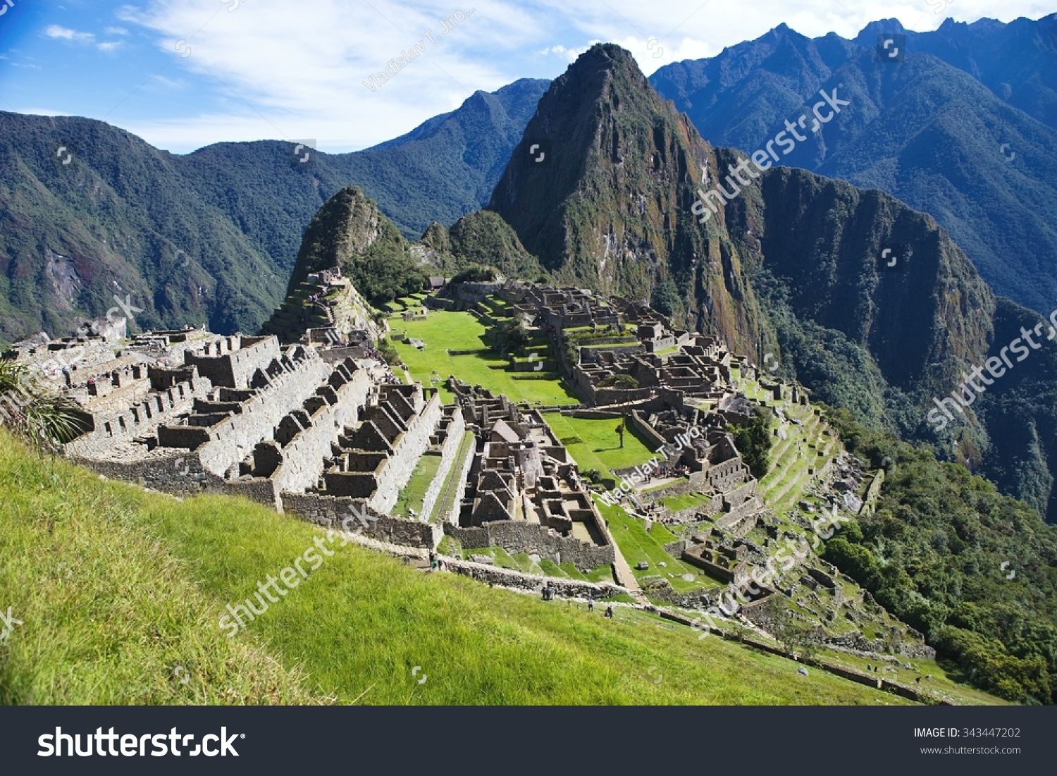 View Of The Ancient Inca City Of Machu Picchu The 15 Th