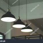Vintage Black Lamp Hanging Cafe Design Stock Photo Edit Now 1208026909