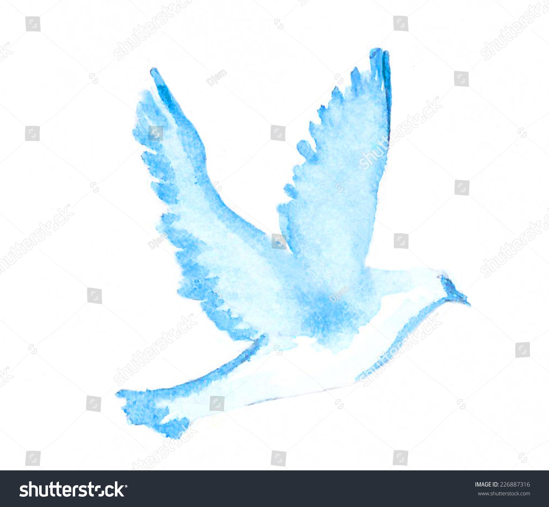 Watercolor Dove Stock Illustration 226887316 Shutterstock