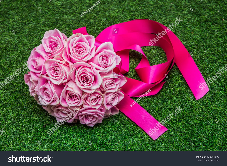 Wedding Flowers Isolated With Bokeh Stock Photo 122984599