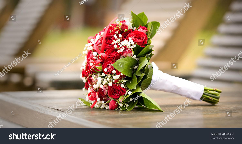 Wedding Flowers Isolated With Bokeh Stock Photo 78644302