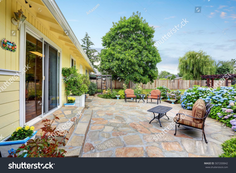 https www shutterstock com image photo well designed patio area stone floor 507200842