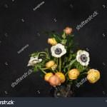 White Anemone Flowers Orange Blush Ranunculus Stock Photo Edit Now 1500998357